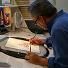 Artist At Work, Wonderland Gallery - Anaheim, California