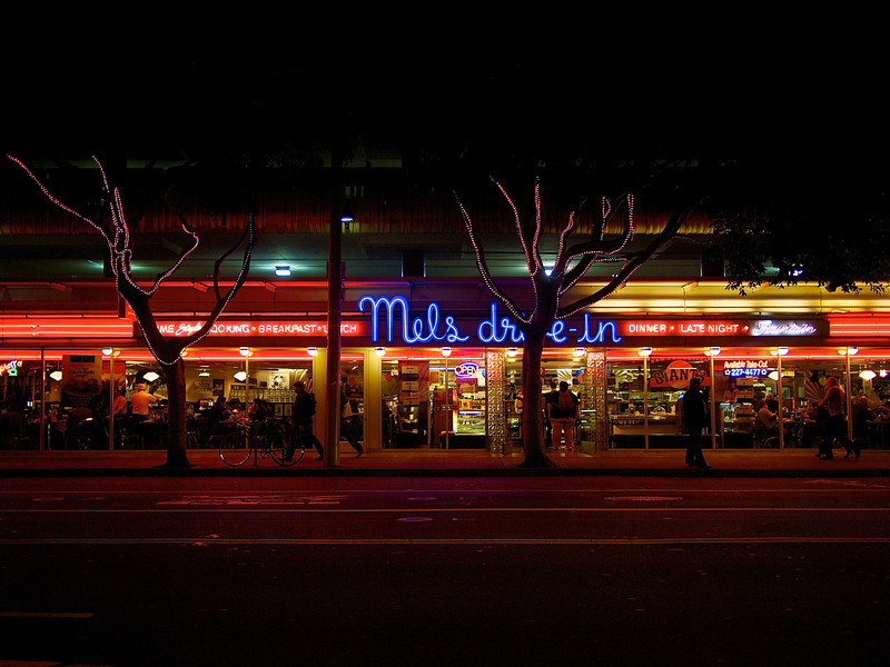 Moody Glow, Mels Drive-in - San Francisco, California