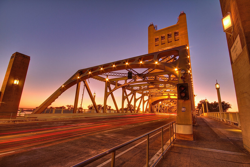 Tower Bridge, Dusk - Sacramento, California