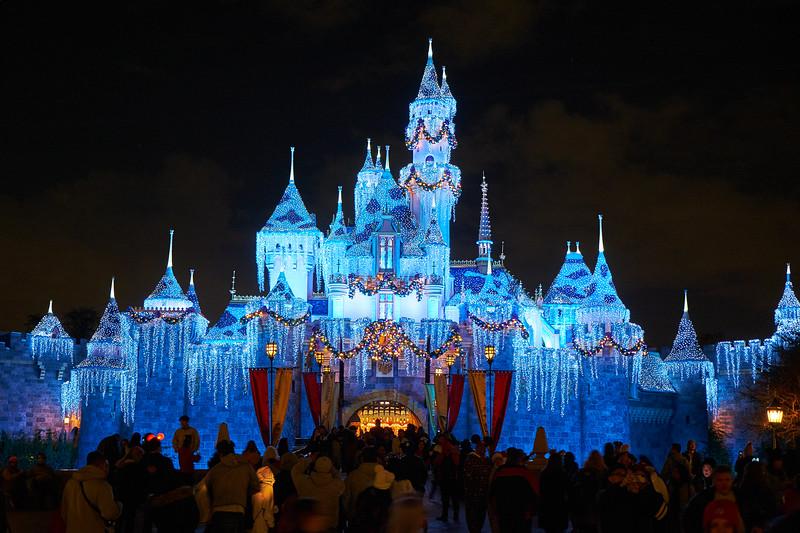 Winter Sleeping Beauty Castle - Anaheim, California