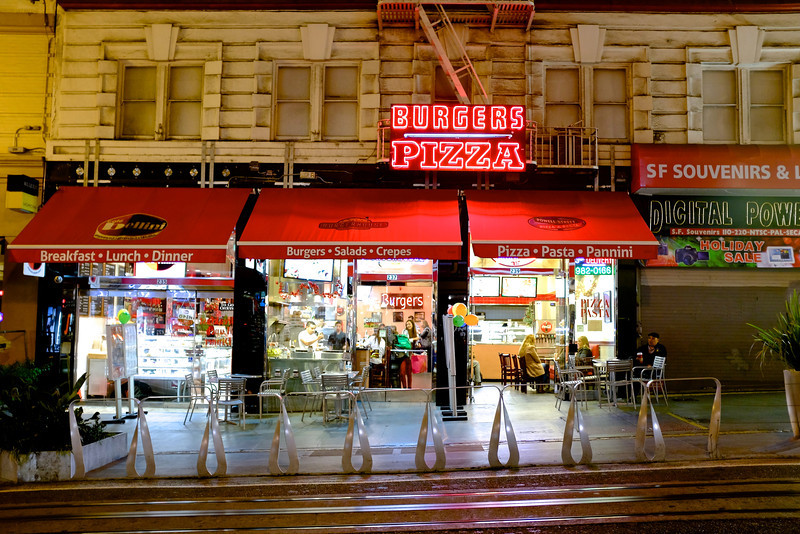 Burgers and Pizza - San Francisco, California