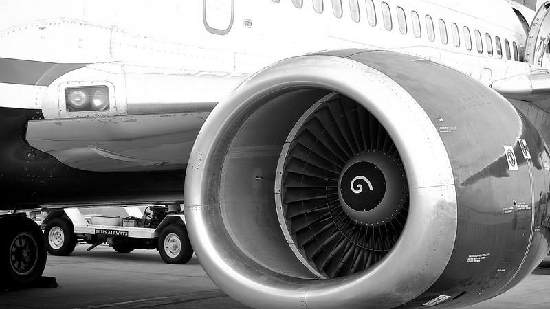 US Airways Engine Detail - San Jose, California