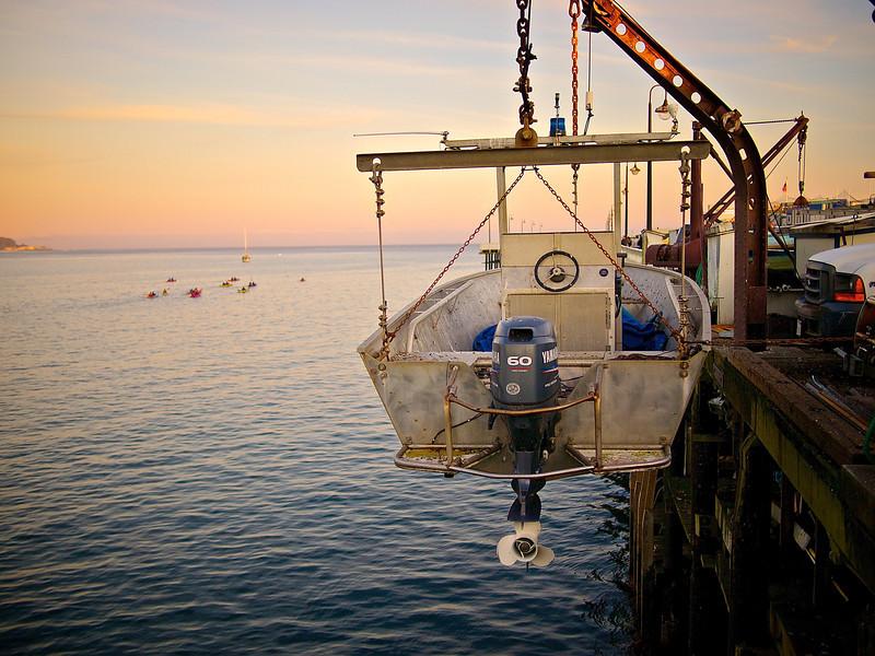 Boat, Municipal Wharf - Santa Cruz, California