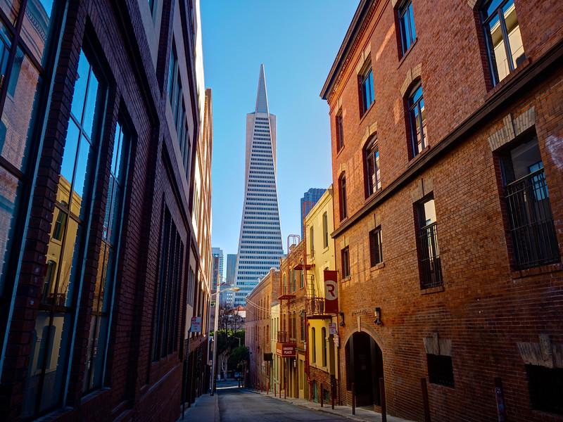 Transamerica Alleyway - San Francisco, California