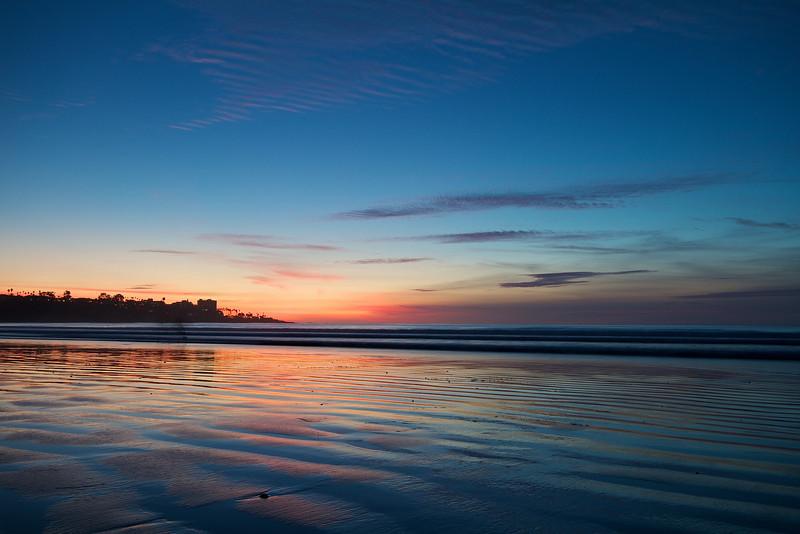 Beach Sunset - La Jolla, California