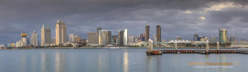 61MPix Pano of San Diego Skyline