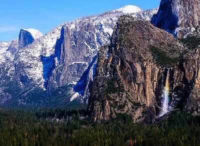 Bridalveil Fall Rainbow, Yosemite National Park, California