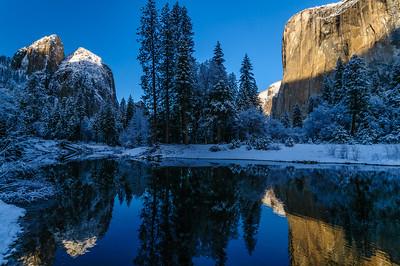 Cathedral Rocks and El Capitan, Yosemite National Park, California