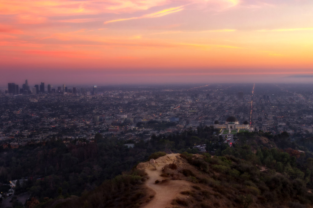 Griffith Observatory at Sunset - Los Angeles, California