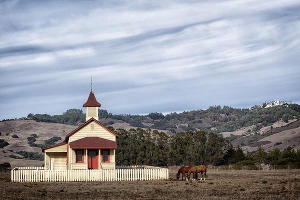 San Simeon Schoolhouse and Hearst Castle