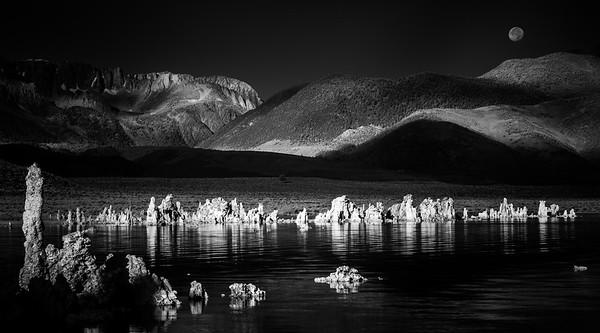 Mono Lake Tufas and Moon