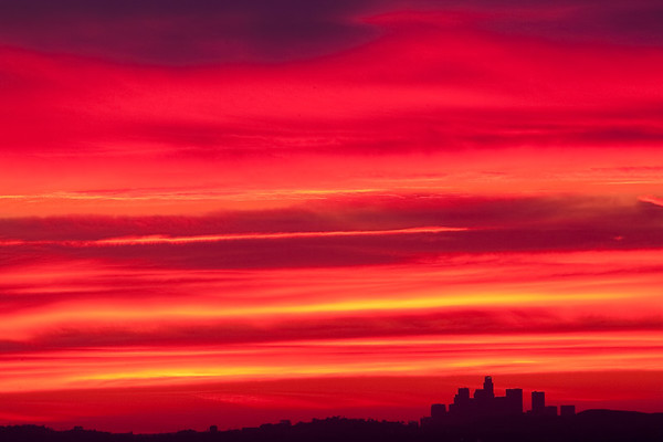 Downtown Los Angeles Sunset