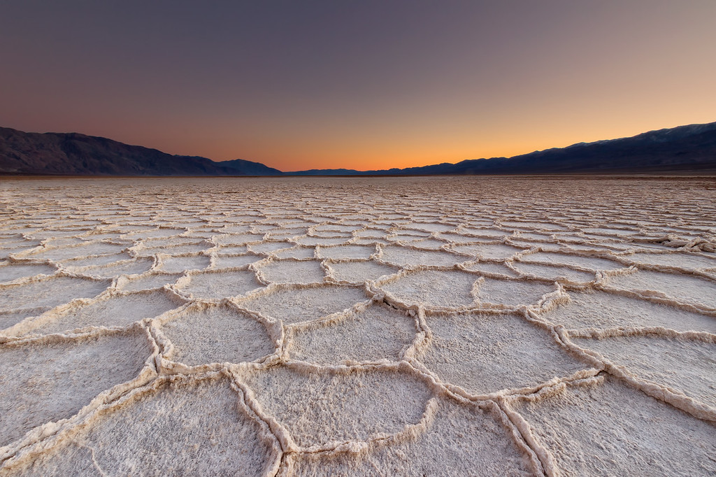 Sunset over Death Valley (Death Valley National Park)