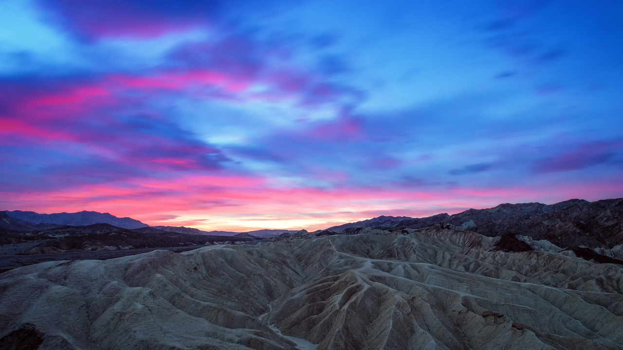 Sunrise over Zabriskie Point (Death Valley National Park)