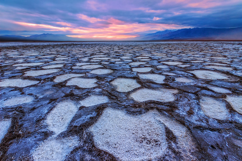 Sunrise over Cottonball Basin (Death Valley National Park)