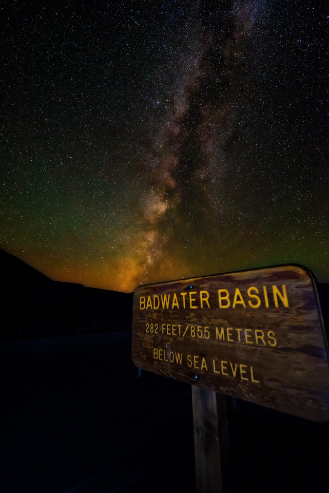 Nightsky over Badwater Basin (Death Valley National Park)