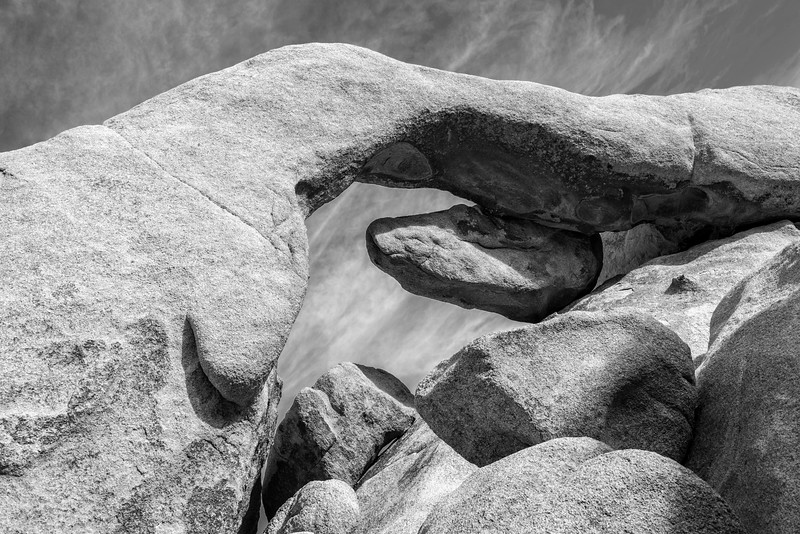 Under the Arch Black and White (Joshua Tree National Park)