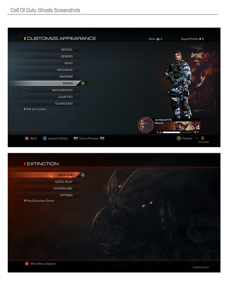 Customize Appearance & Extinction Main Menu