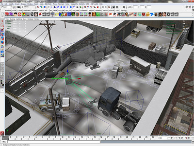 Here, I'm showing the unhibernate script used to place the final crashed helicopter model as well as the dead bodies, weapons, and grenades that got tossed out of the helicopter during it's final explosion (when the player character covers his eyes and turns away in the opening cutscene). Smoke and mirrors!