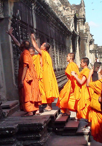 Monks taking Photos on their ipads :)