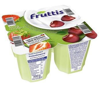 20103 Fruttis 0,4% zemeņu, ķiršu 125g, Campina