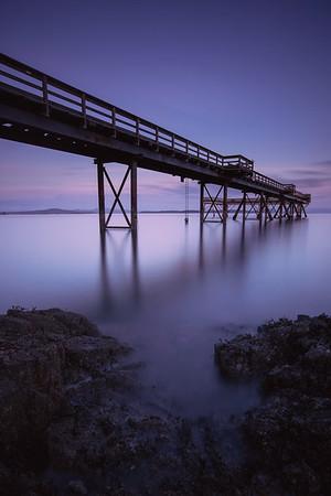 Sidney Pier Purple Skies