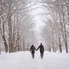 Lovers snowy walk, Kingston, Nova Scotia