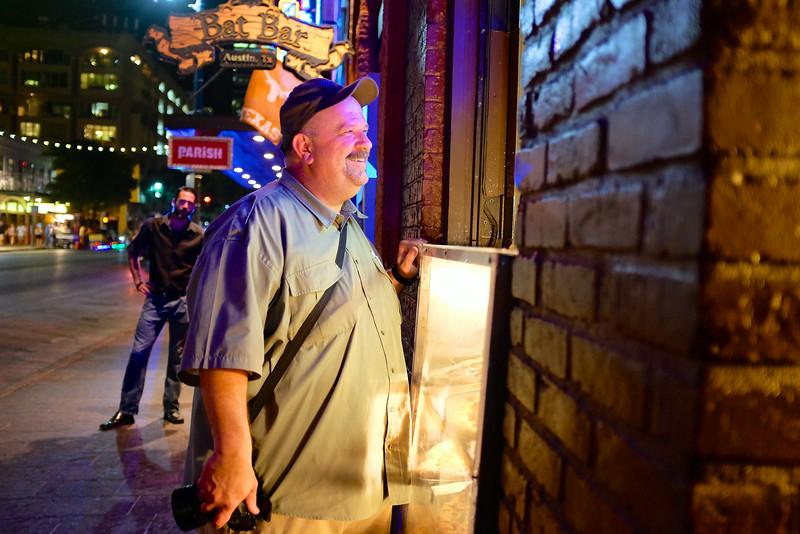 Jeff Socializes, 6th Street - Austin, Texas