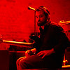 Musician in Red, 6th Street - Austin, Texas