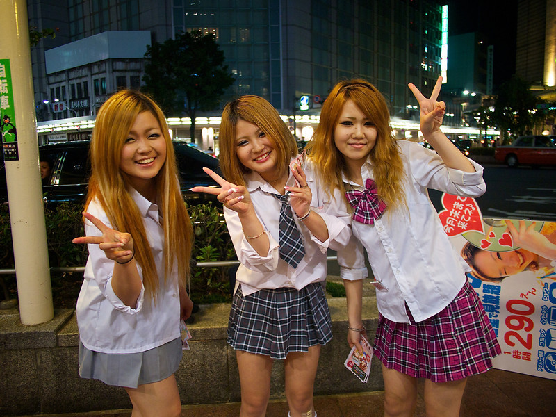 Cosplay Girls, Aya, Miyako and Mao - Kyoto, Japan