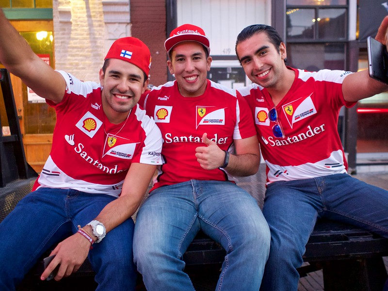 Visitors from Mexico, 2016 F1 Fan Fest - Austin, Texas
