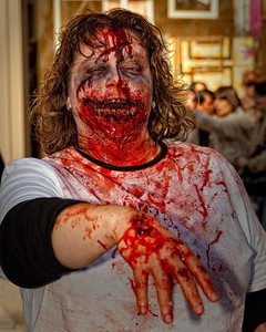A very blood thirsty zombie
