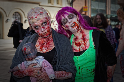 Zombie people, Belfast Zombie walk