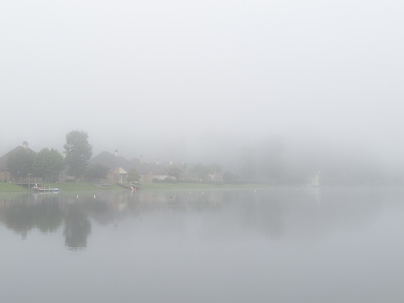 Fog on Skiside lake