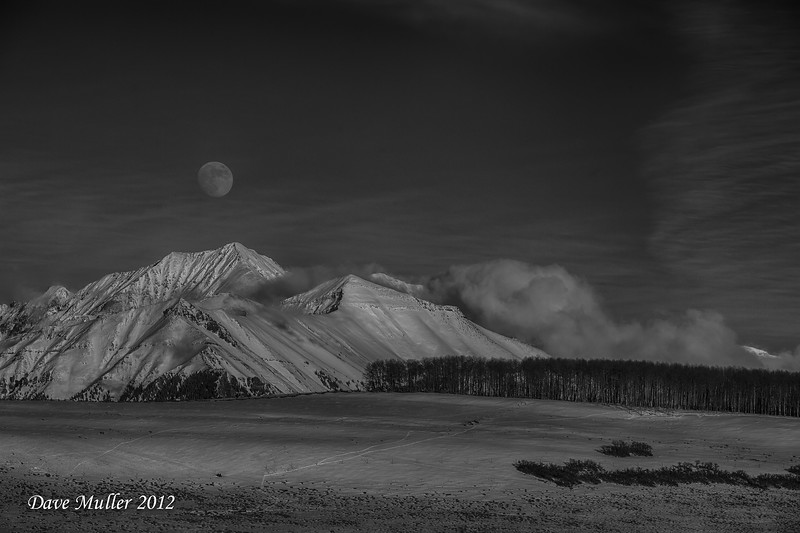 Southern Rockies Moonrise