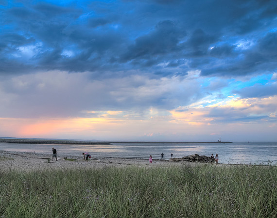 Stormy summer evening at town neck