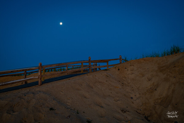 Moonset over Nauset