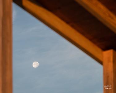 Setting Moon Peak-a-Boo