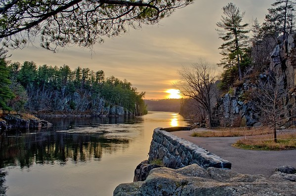 Sunset at Taylors Falls