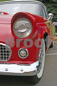 Ford Thunderbird headlight (Depot Town, Ypsilanti, Michigan)