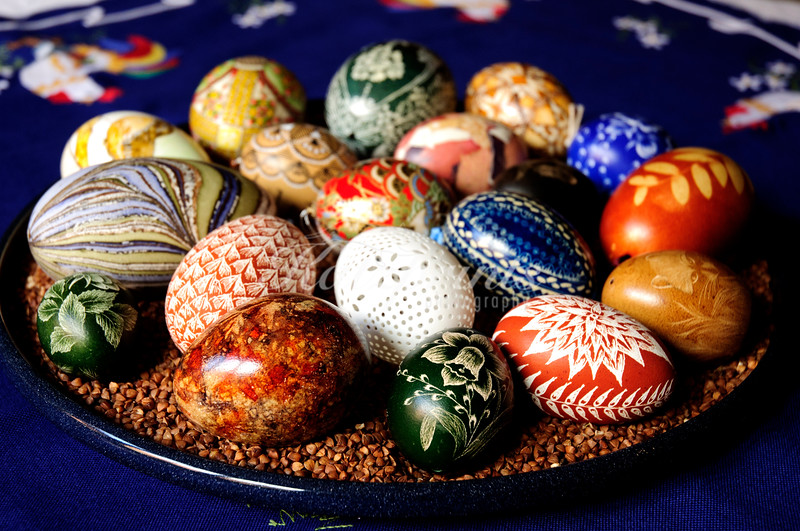 Artistically decorated eggs are collectors items in many European countries