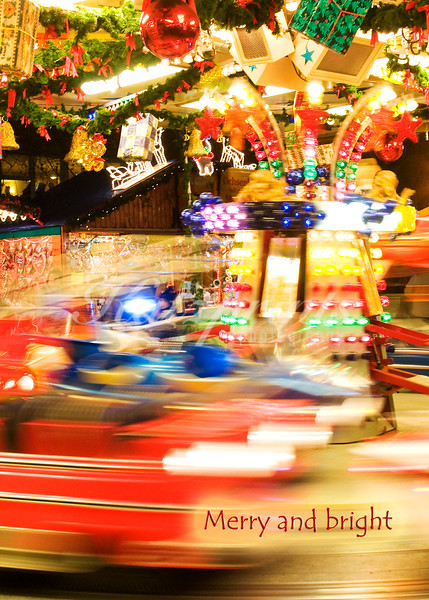 Merry-go-round at a Christmas market in Germany