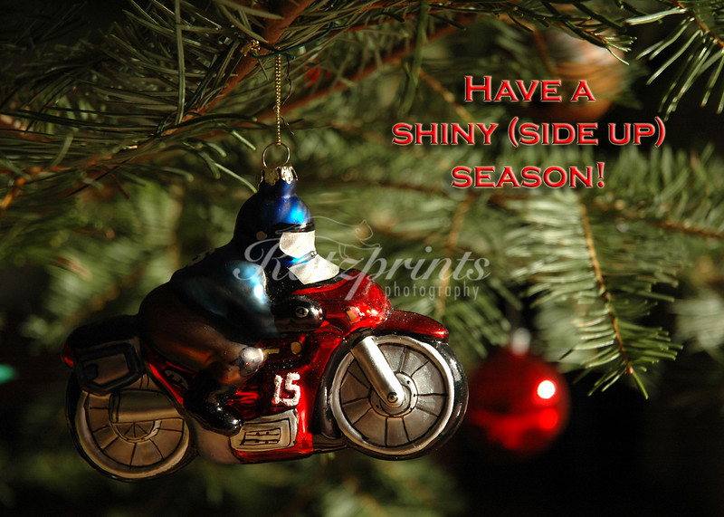 Motorbike ornament in Christmas tree
