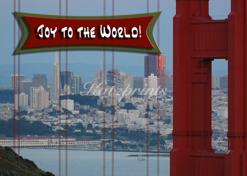 The San Francisco skyline is the backdrop for Holiday greetings