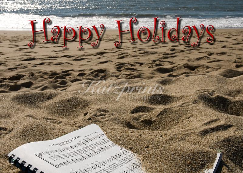 Music score on the beach