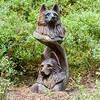 Wolves sculpture