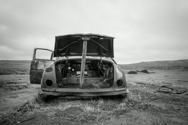 Abandoned automobile, Carrizo Plain National Monument