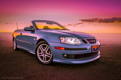 Saab 93 Aero Convertible. This car was photographed and retouched in Tempe, Arizona.