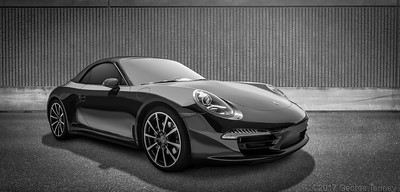 Commercial photography and retouching of Porsche 911 Cabriolet. This car was photographed on location in Scottsdale, Arizona.