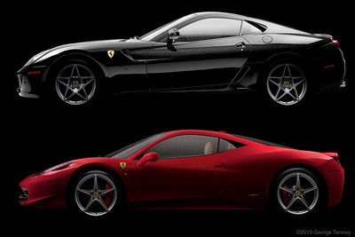 Ferrari 458 and 599 profiles